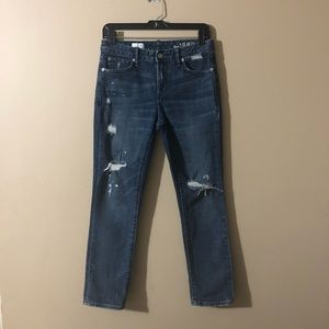GAP 1969 | Real Straight Size 27R Distressed Jeans